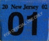 New Jersey License Plate Validation Registration Sticker 2002