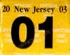 New Jersey License Plate Validation Registration Sticker 2003