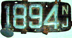 New Jersey License Plate 1903