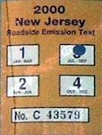 New Jersey Truck Roadside Emission Test Sticker
