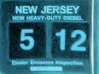 New Jersey New Heavy Duty Diesel Truck Dealer Emission Inspection Sticker