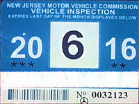 New Jersey Windshield Stickers Fake Reproduction