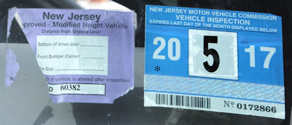 Nj Vehicle Inspection >> New Jersey Modified Height Windshield Stickers