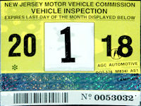 Nj Vehicle Inspection >> New Jersey Windshield Stickers Fake Reproduction