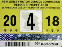 Nj Vehicle Inspection >> New Jersey Windshield Stickers