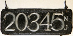 New Jersey License Plate 1906