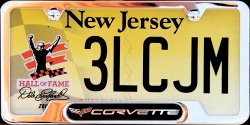 New Jersey Sports License Plate NASCAR Hall of Fame
