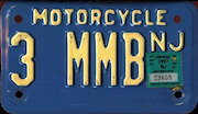New Jersey Courtesy Motorcycle License Plate