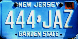 New Jersey License Plate 1985