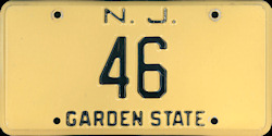 New Jersey License Plate 1959