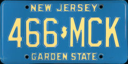 New Jersey License Plate 1979