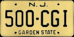 New Jersey License Plate 1974