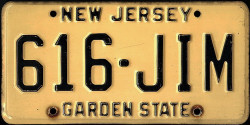 New Jersey License Plate 1978