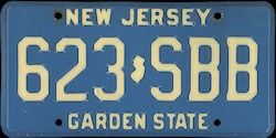 New Jersey License Plate 1981