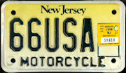 New Jersey Vanity Motorcycle License Plate