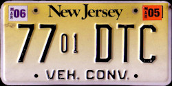 New Jersey Vehicle Converter License Plate