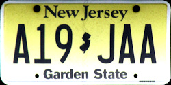 New Jersey License Plate 2017