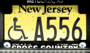 New Jersey Handicapped Disabled Motorcycle License Plate