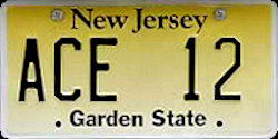 New Jersey Atlantic City Expressway Police License Plate
