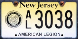 New Jersey American Legion License Plate