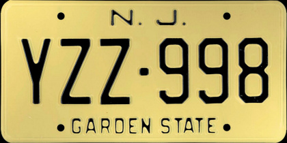 New Jersey License Plate History Atricle