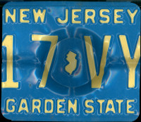 New Jersey License Plate Ashtray