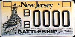 New Jersey Battleship Nj Bb 62 License Plates