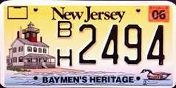 New Jersey Baymens Heritage License Plate