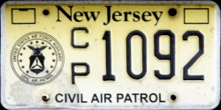 New Jersey Civil Air Patrol License Plate