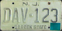 New Jersey Disabled American Veterans License Plate