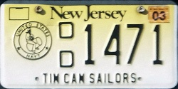 New Jersey Tin Can Sailor Destroyer Veteran License Plate