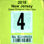 New Jersey Diesel Truck Emission Inspection Sticker