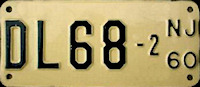 New Jersey Motorcycle Dealer License Plate 1960