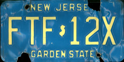 New Jersey License Plate 1990