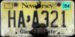 New Jersey Highway Authority License Plate