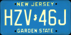 New Jersey License Plate 1992
