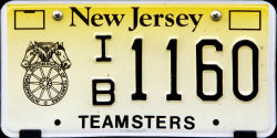 New Jersey International Brotherhood of Teamsters License Plate