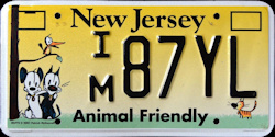 New Jersey Animal Friendly License Plate