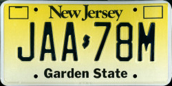 New Jersey License Plate 1999