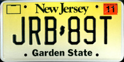 New Jersey License Plate 2000