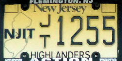 New Jersey Institute of Technology NJIT License Plate