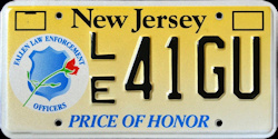 New Jersey Price of Honor / Fallen Law Enforcement License