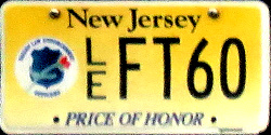 New Jersey Price of Honor - Fallen Law Enforcement License Plate