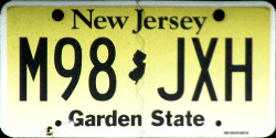 New Jersey License Plate 2018