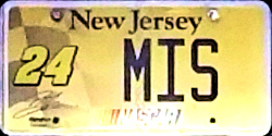 New Jersey Sports License Plate NASCAR