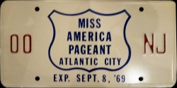 New Jersey License Plate Miss America Pageant