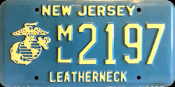 New Jersey Marine Corps Leatherneck License Plate