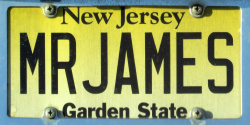 New Jersey Vanity Personalized License Plate