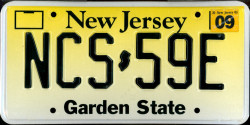 New Jersey License Plate 2003