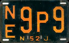 New Jersey License Plate 1952
